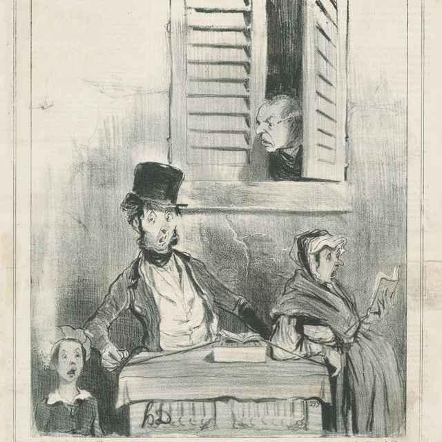 Nepochopení speváci - Daumier, Honoré