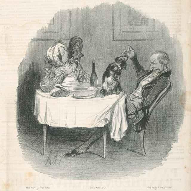 Manželská zhoda - Daumier, Honoré