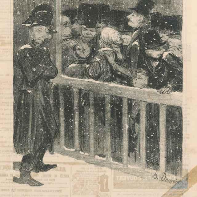 Fronta na predstavenie - Daumier, Honoré