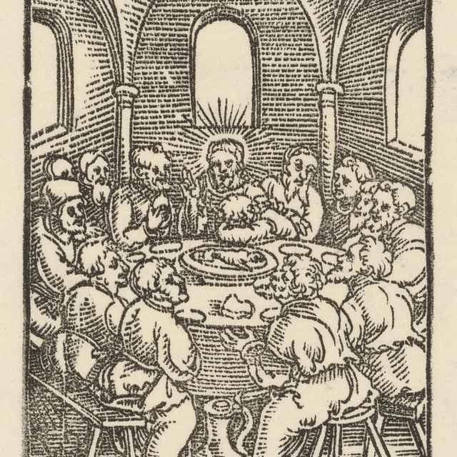 Posledná večera - Nemecký grafik z 1. polovice 16. storočia