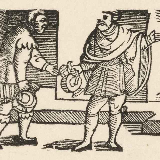 Enšpígl obstaráva víno - Nemecký grafik z 1. polovice 16. storočia