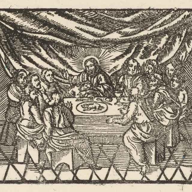 Posledná večera - Moravský grafik zo začiatku 17. storočia