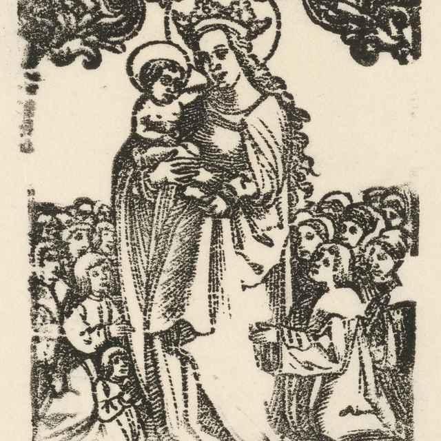 Madona so zástupom - Nemecký grafik z 1. polovice 16. storočia
