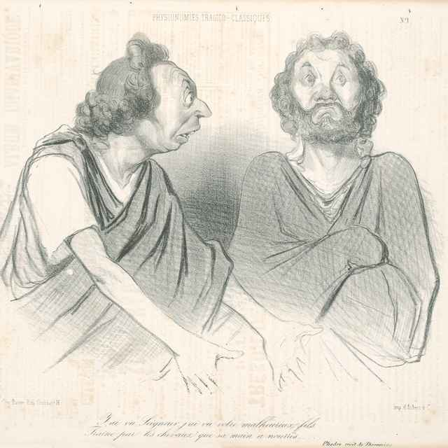 Rozhovor - Daumier, Honoré