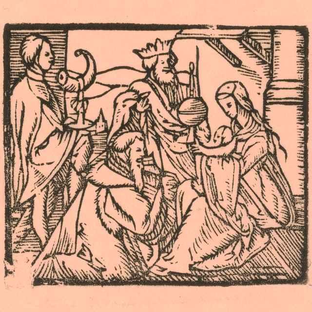 Klaňanie sa Troch kráľov - Moravský grafik zo začiatku 17. storočia