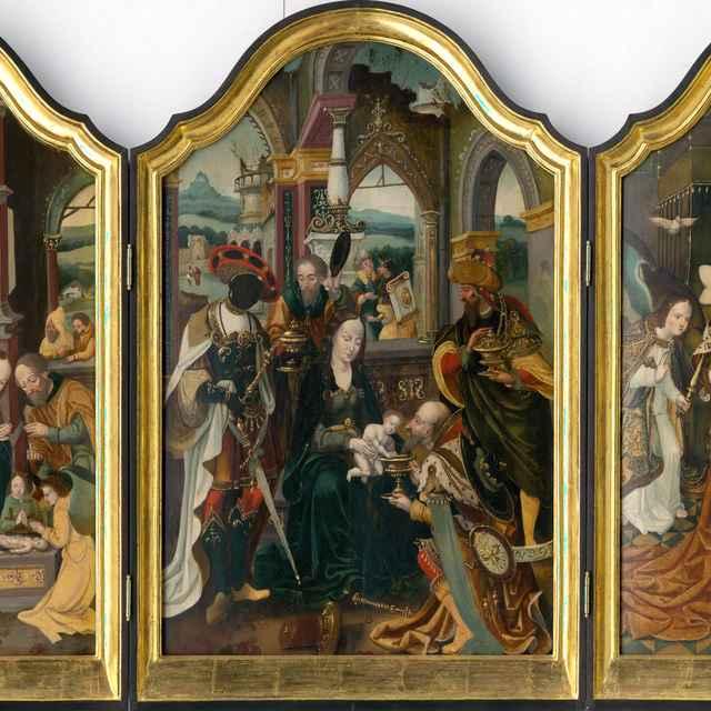 Triptych Klaňania troch kráľov - Mertens ml., Jan