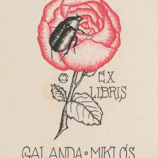 Ex libris Galanda Miklós - Galanda, Mikuláš