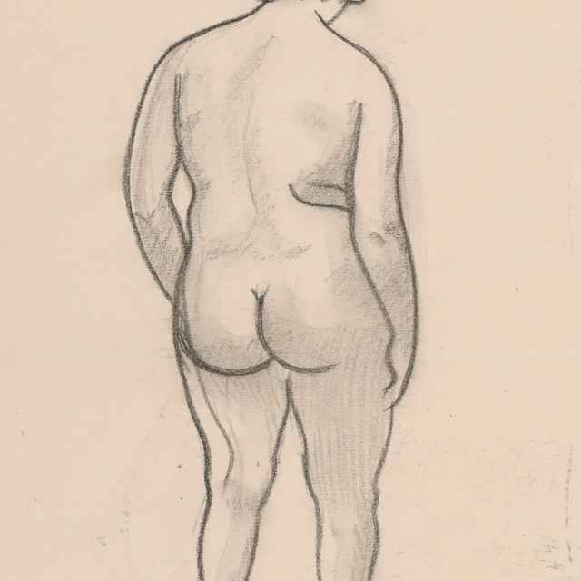 Kresba aktu zozadu - Galanda, Mikuláš