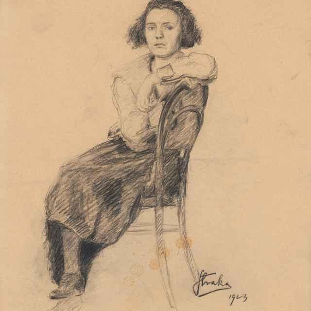 Štúdia sediacej ženy - Straka, Štefan