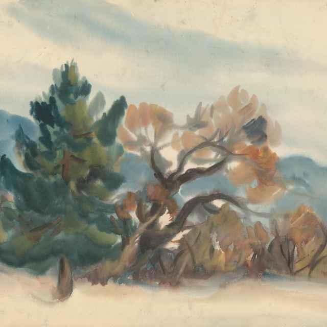 Kraj lesa na jeseň - Palugyay, Zolo - Výtvarné umenie