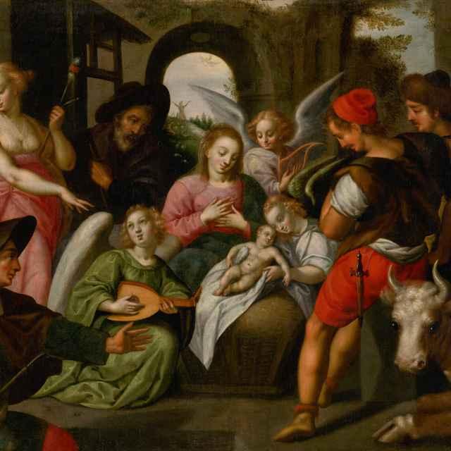 Klaňanie sa pastierov - Rottenhamer, Hans