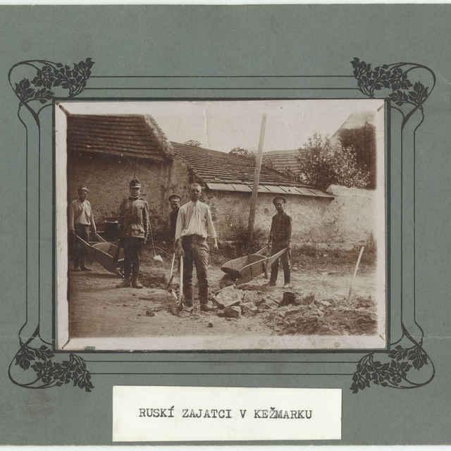 Fotografia ruských zajatcov z I. svetovej vojny