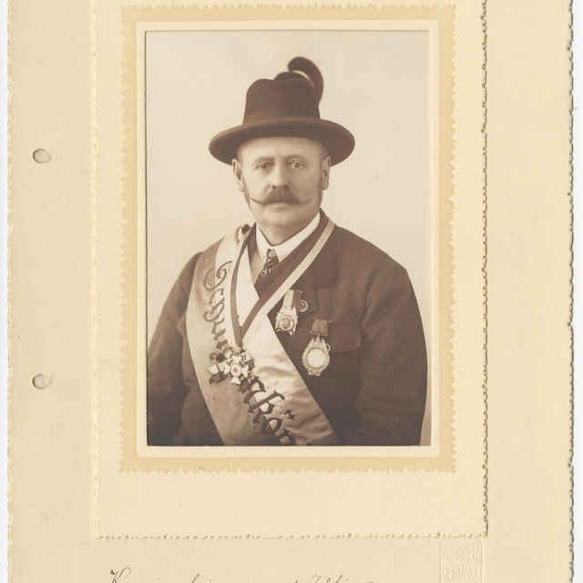 Foto Alfréda Zwickera, člena Kežmarského streleckého spolku - Moravetz Emil