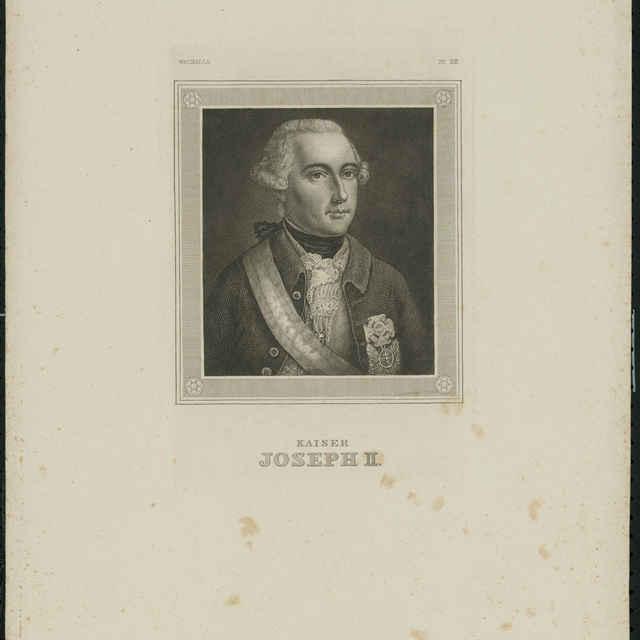 Litografia, Cisár Jozef II. - neznámy (osobné meno)