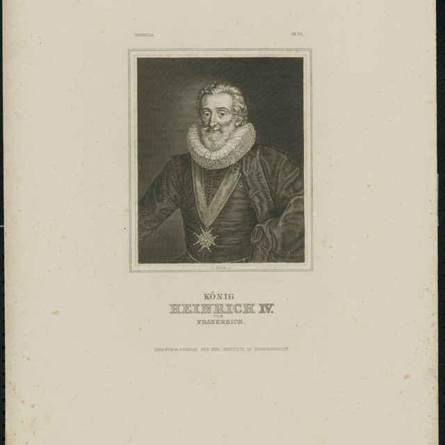 Grafický list, König Heinrich IV., litografia - Kuhner, Tn.