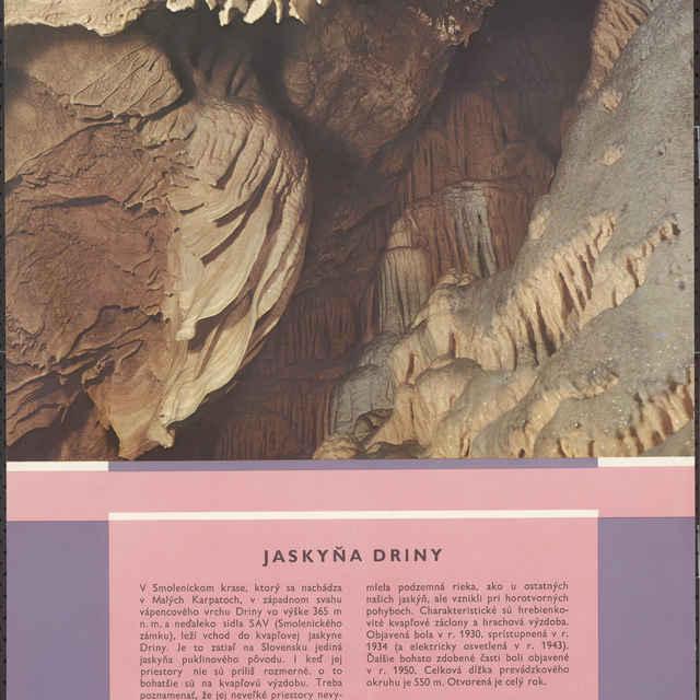 Plagát jaskyňa Driny