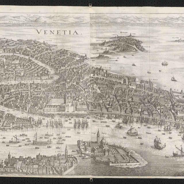 Medirytina, Benátky - mapa mesta, Matúš Merian, 1649 - Merian, Matúš