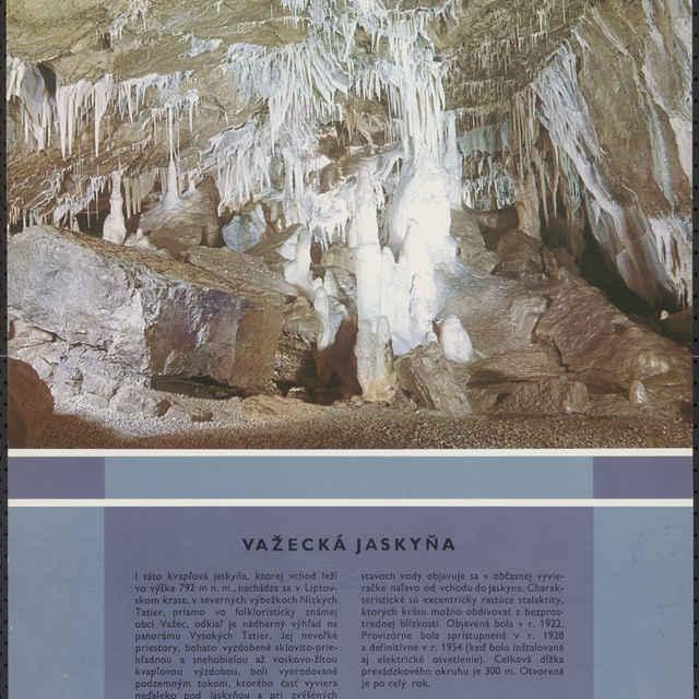 <u>Plagát</u> Važecká <u>jaskyňa</u>