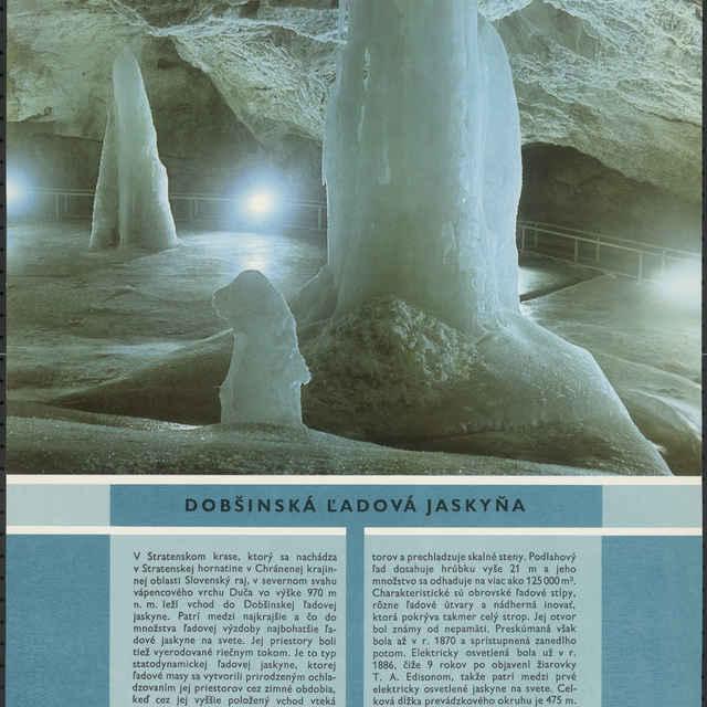 Plagát Dobšinská ľadová jaskyňa - Homza, Štefan