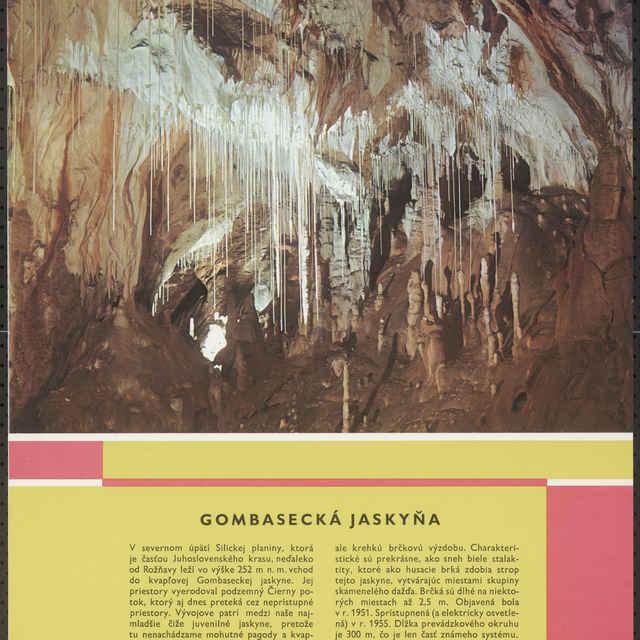 <u>Plagát</u> Gombasecká <u>jaskyňa</u>
