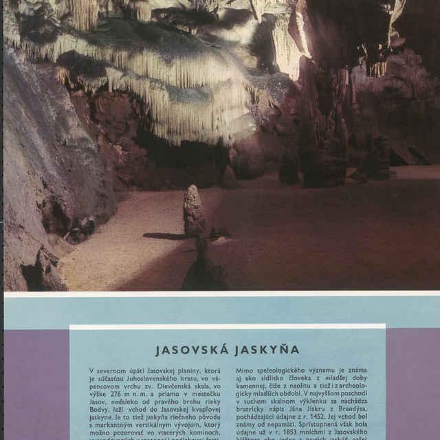 Plagát Jasovská jaskyňa - Homza, Štefan