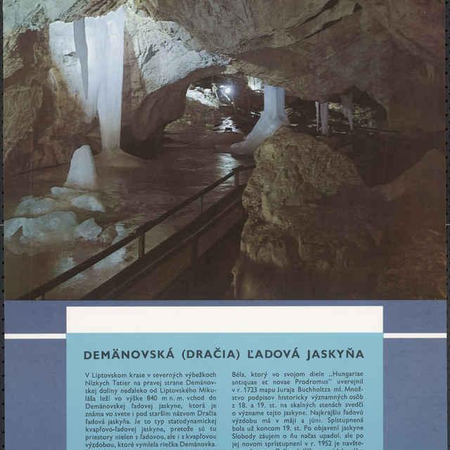 <u>Plagát</u> Demänovská (Dračia) ľadová <u>jaskyňa</u>