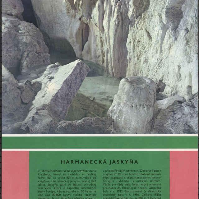 <u>Plagát</u> Harmanecká <u>jaskyňa</u>