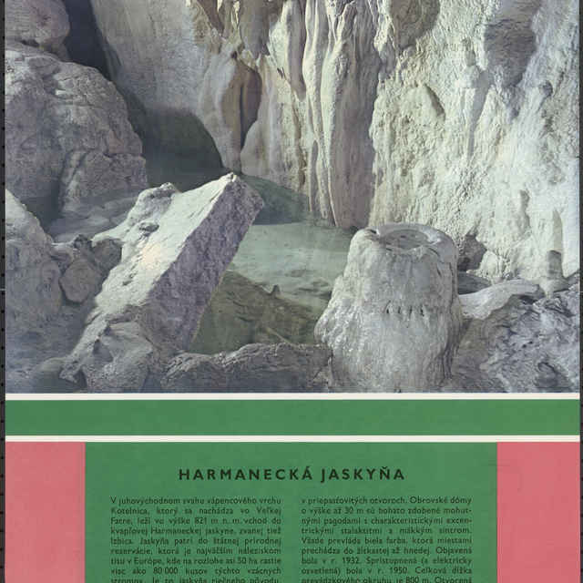 Plagát Harmanecká jaskyňa