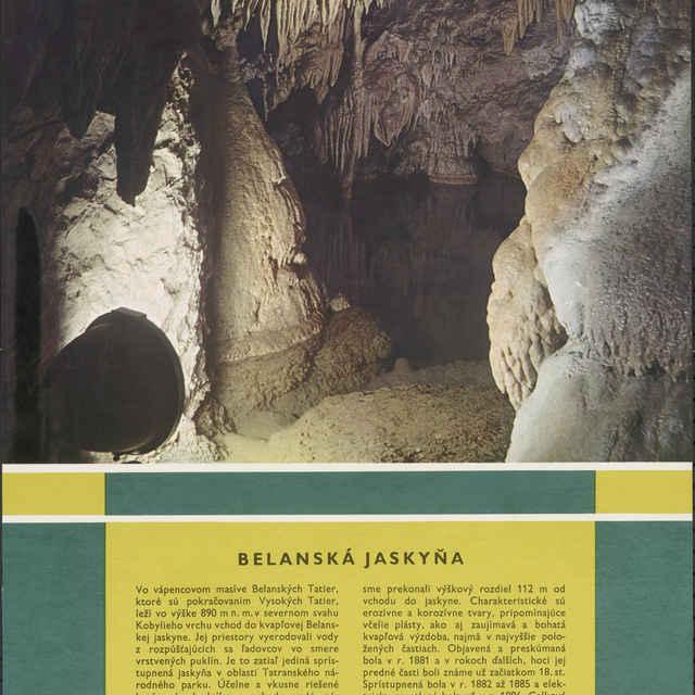 Plagát Belanská jaskyňa - Homza, Štefan