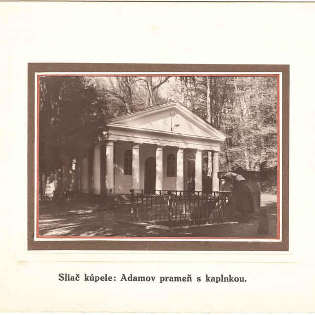 Sliač, kúpele - prameň Adam a kaplnka svätej Hildegardy