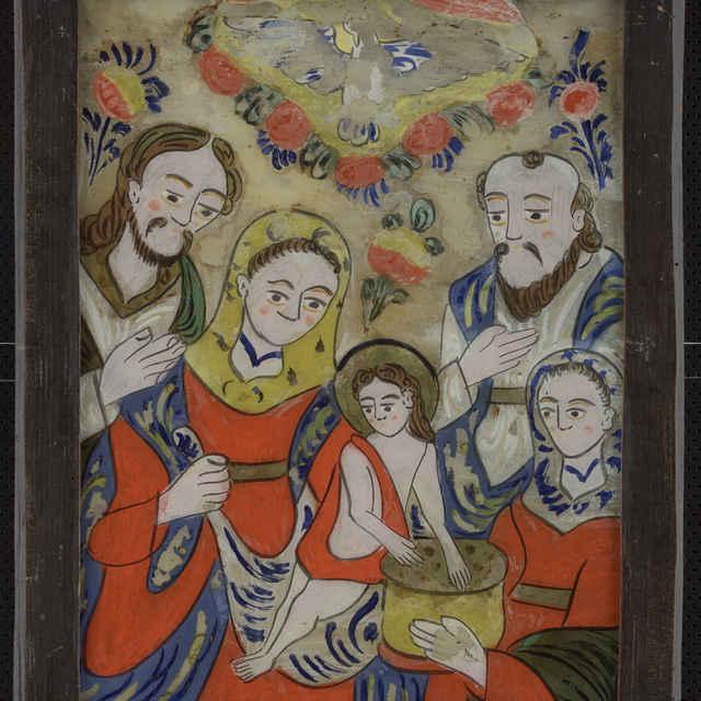 Maľba na skle - neznámy (osobné meno)