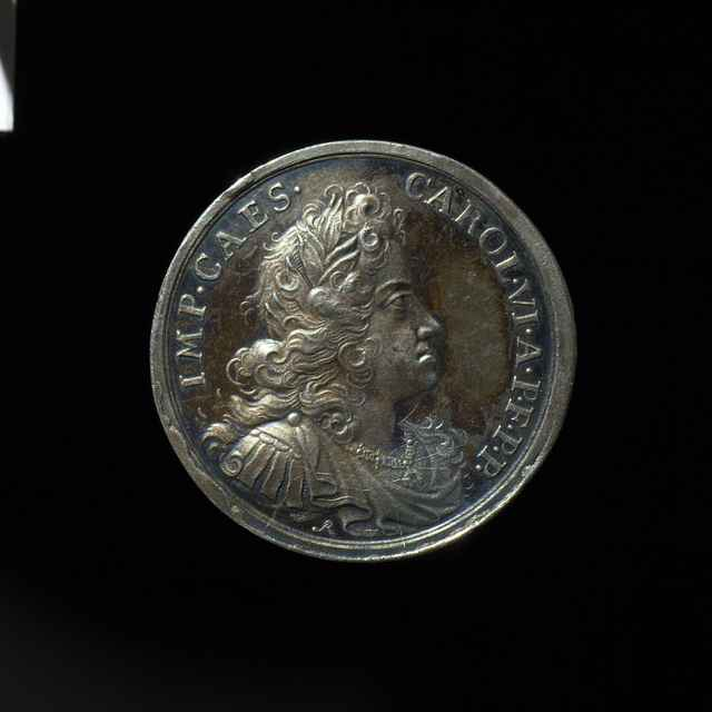 Pamätná medaila na bratislavskú korunováciu ako Karola VI. uhorského kráľa, strieborná