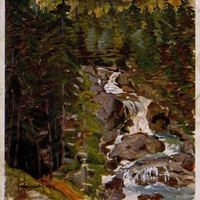 Kamzičí vodopád u Smokovců - Výtvarné umenie