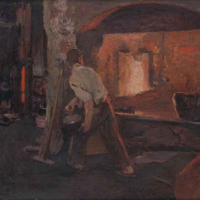 Pred ukončením práce - Skutecký, Dominik - Výtvarné umenie