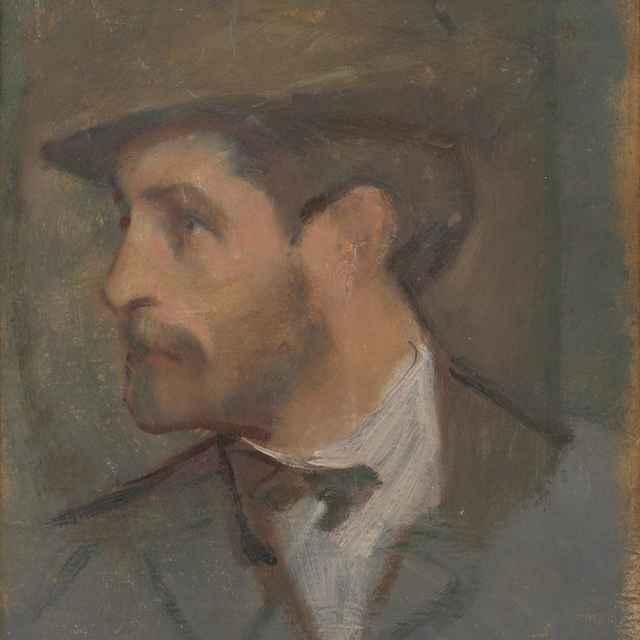 Autoportrét - malý - Mitrovský, Milan Thomka
