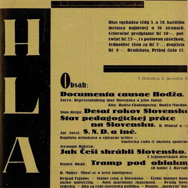 Hlas - Text
