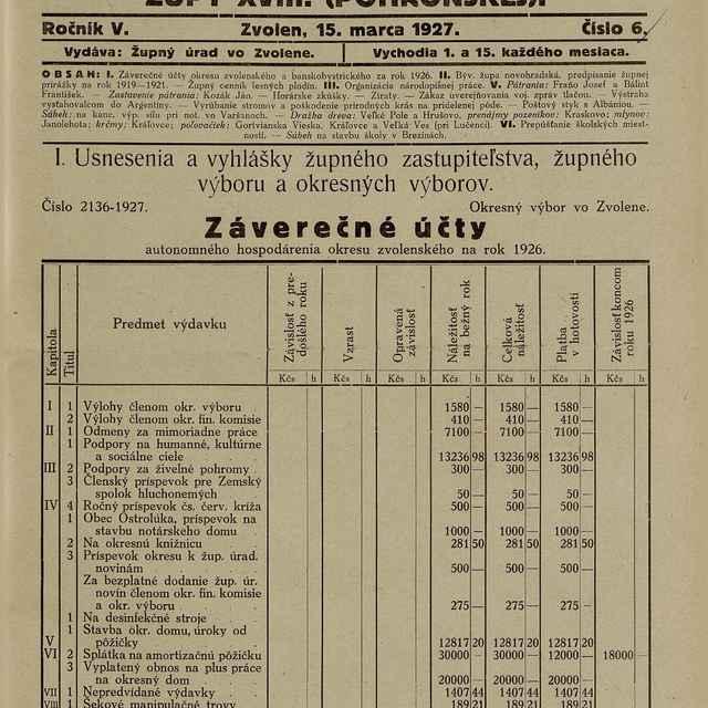 Úradné noviny župy XVIII