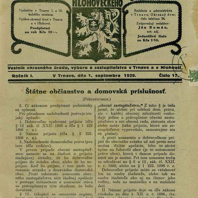 Úradné noviny okresu Trnavského