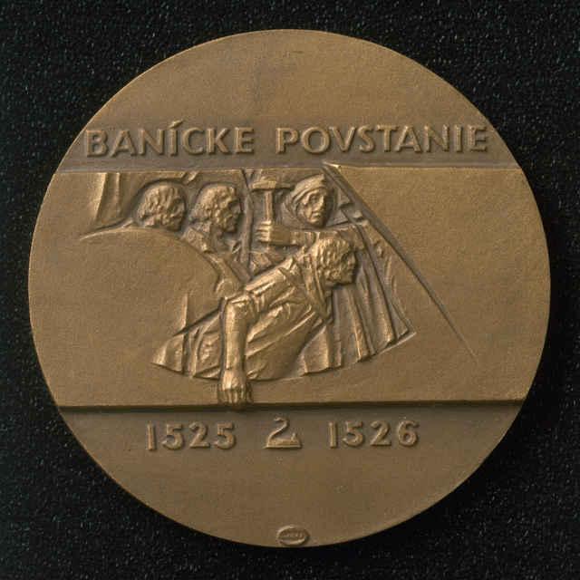 Medaila zo sady medailí k výročiu baníckeho povstania