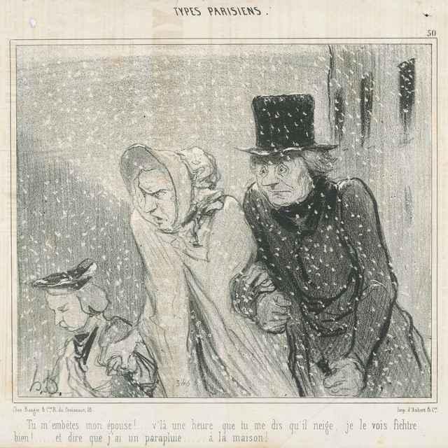 Zima (Otravuješ ma, žena moja!) - Daumier, Honoré