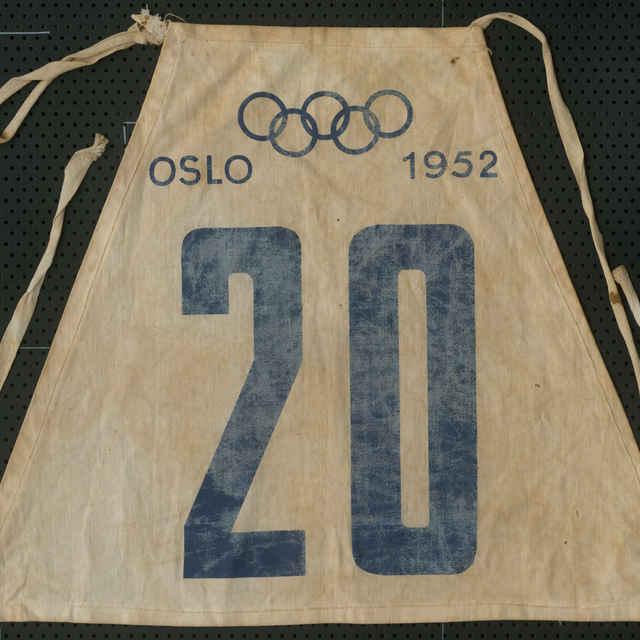 Štartovné číslo zo ZOH Oslo 1952