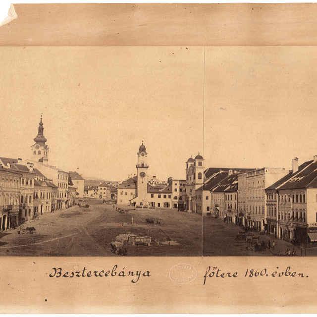 Pohľad na námestie v Banskej Bystrici z roku 1860