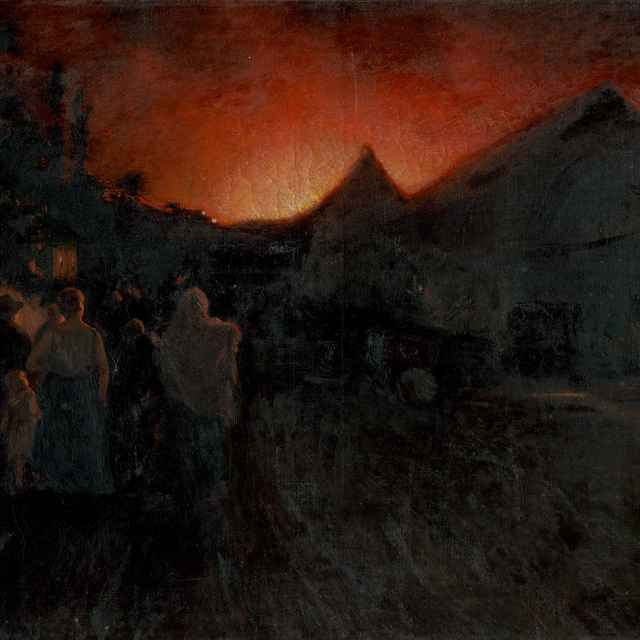 Požiar v Radvani