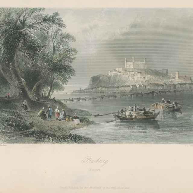 Pohľad na Bratislavu - Bartlett, William Henry