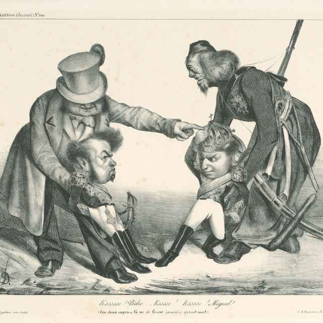 Pedro a Miguel - Daumier, Honoré