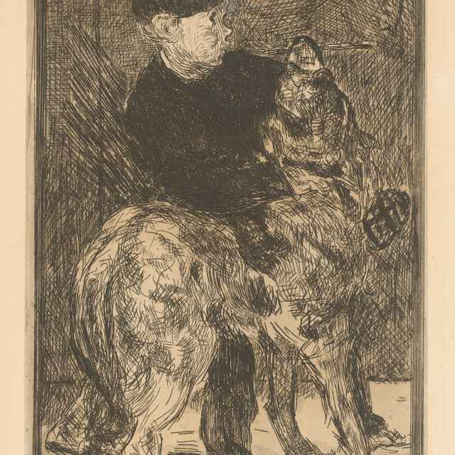 Dieťa a pes - Manet, Edouard