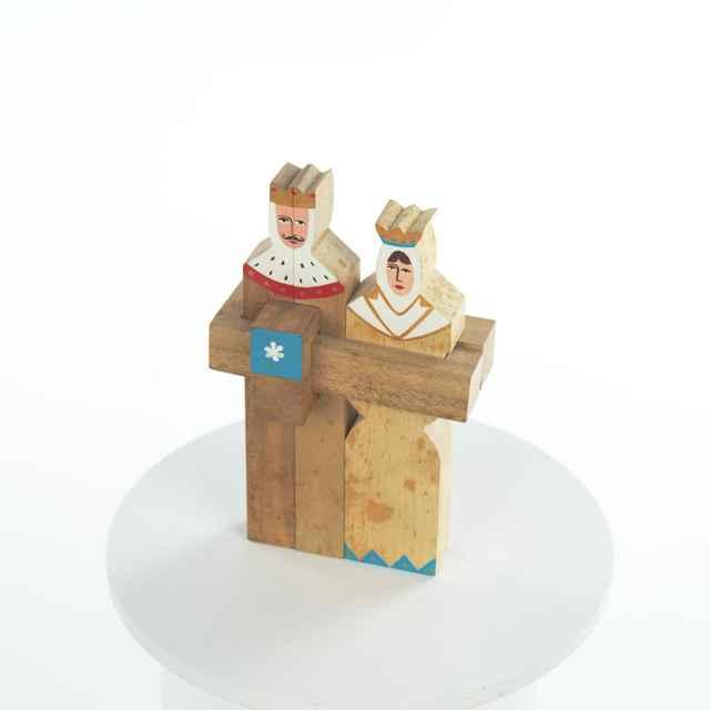 Kráľovský pár, skladačka drevená - R.E.S.spol.s.r.o.