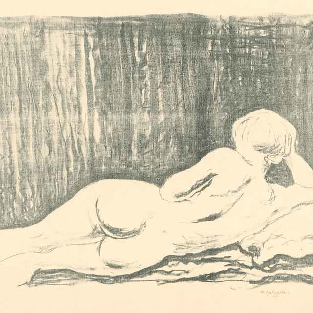 Ležiaci ženský akt - Galanda, Mikuláš