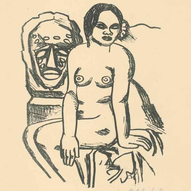 Žena a socha - Galanda, Mikuláš