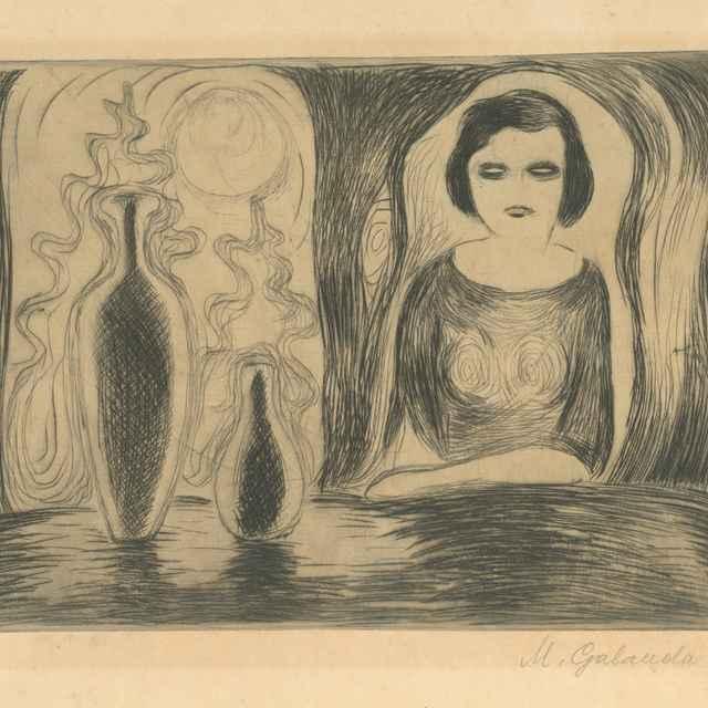 Žena pri stole - Galanda, Mikuláš